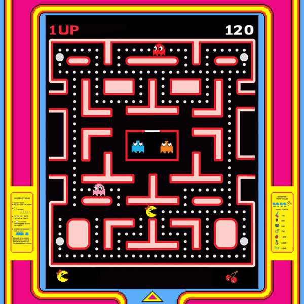 Ms Pac Man maze screen